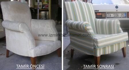 Salon koltuğu tamiri, koltuk kaplama, kumaş, deri kaplama